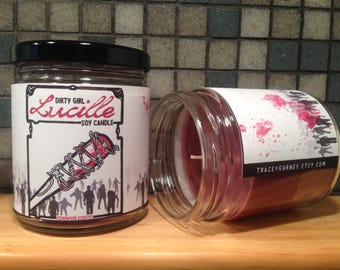 Lucille Walking Dead Inspired Soy Candle