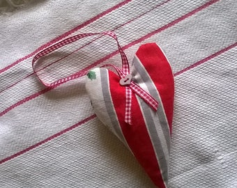 Vintage French Fabric Lavender Filled Heart