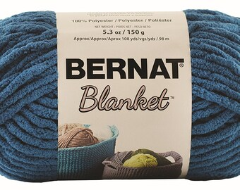 Bernat Blanket Yarn in Dark Teal 150 Gram Skein Super Bulky Yarn