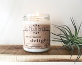 Afternoon Delight: Tobacco & Vanilla. Soy candles, Gifts for Him, Gifts for Her, Tobacco Candle, Vegan Gifts, Housewarming Gifts, Nontoxic