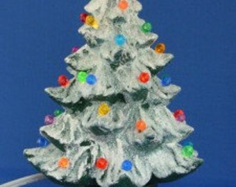Handmade Ceramic Lighted Christmas Tree