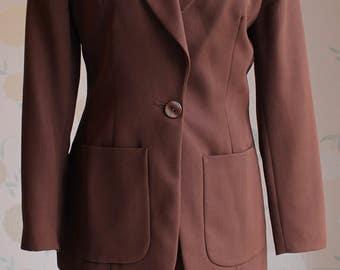 JASPER CONRAN VINTAGE Beautifully Tailored Skirt Suit Wool Uk Size 8 Fab.