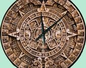 Non intrusive The Last Clock You'll Ever Need American Made Mayan Calendar 16 inch Quartz Wall Clock