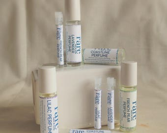 Handmade Perfume in Travel Size Roll On Glass Bottle - Roll On Perfume