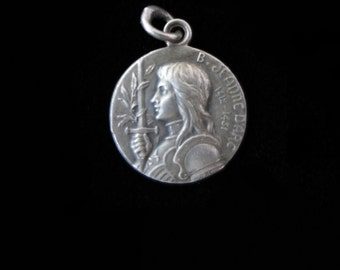 SALE  -  Vintage Joan of Arc Holy Medal