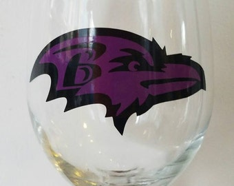 SALE Ravens Inspired 20 oz Wine Glass SALE