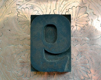 "Letterpress Wood Type 9 or 6 /WB1 / 3.25"" Tall Large Wooden Number 9 / Antique Letterpress Wood Printer's Block"