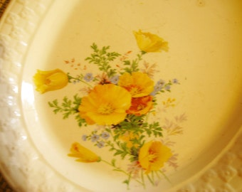 Gorgeous Vintage Poppy Graphic stoneware Platter
