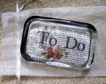 To Do Lead Crystal Paperweight, hand made