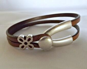 Wishbone leather bracelet, wishbone bracelet, leather bracelet, leather, bracelet, wishbone bracelet, wishbone, wishbone clasp, K1978