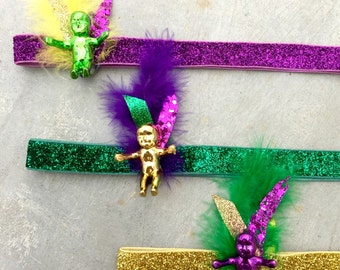 King Cake Baby Headband // Mardi Gras // New Orleans