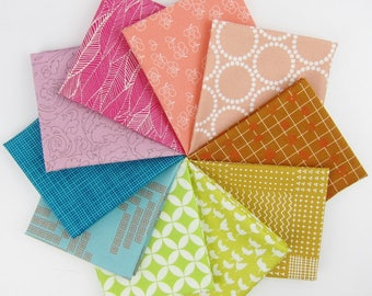 Rainbow Remix Fat Quarter Bundle - 10 Fat Quarters - 2.5 Yards Total