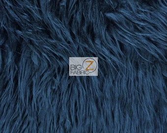 "Solid Mongolian Faux Fur Fabric - NAVY - Sold By The Yard 60"" Width Costumes Accessories Clothing"