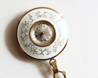 Vintage Ardath Watch Pendant Necklace, 21 Jewels, Swiss Made, Circa 1940's