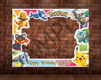 photo booth frame pokemon photobooth prop pikachu printable