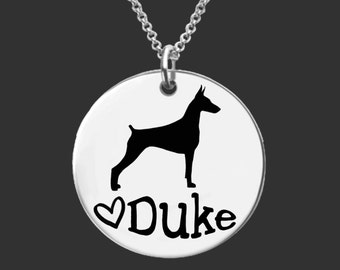 Doberman Pinscher Necklace   Doberman Pinscher Jewelry   Personalized Dog Necklace   Personalized Gift   Korena Loves