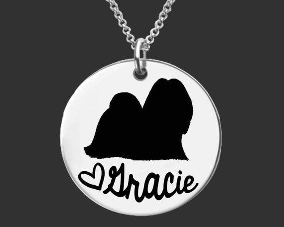 Lhasa Apsos Necklace | Lhasa Apsos Jewelry | Personalized Dog Necklace | Personalized Gifts | Korena Loves