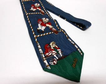 Mad Magazine Alfred E Neuman Football Theme Men's Tie