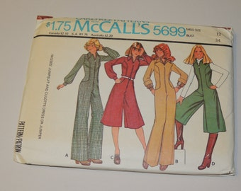 Uncut sz 12 McCalls 5699 pattern