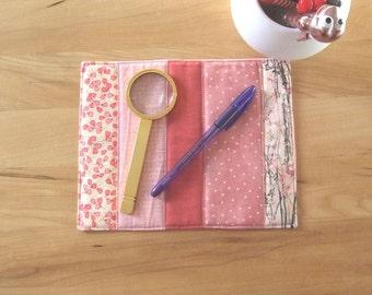 Mug rug - reusable snack mat - mini quilt - teacher gift - unique desk accessory - large fabric coaster - dresser mat - candle mat - MRUG34