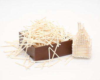 White tip wooden matches for wedding, matchhouse making, matchbox filling, crafts