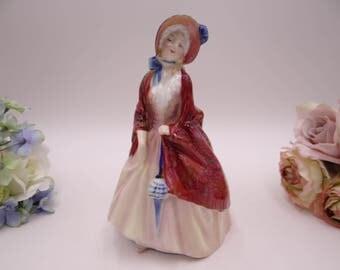 "Vintage English Bone China Royal Doulton HN 1988 ""Paisley Shawl"" Figurine"