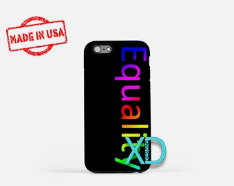 Equality iPhone Case, Rainbow iPhone Case, Equal Rights iPhone 8 Case, iPhone 6s Case, iPhone 7 Case, Phone Case, iPhone X Case, SE Case