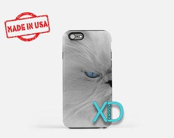 White Cat iPhone Case, Kitty iPhone Case, Kitten iPhone 8 Case, Longhair, iPhone 6s Case, iPhone 7 Case, Phone Case, iPhone X Case, SE Case