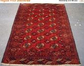 YEAR END CLEARANCE Hand-Knotted Turkaman Bokara Persian Rug (3260)