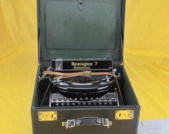 EXC Restored 1932 Remington  Model 7 Noiseless Portable Typewriter Platen Warr