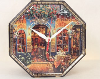 Collectible Cookie Tin, Viktor Shvaiko Collection, Kitchen Decor, Metal Tin, Octagon, Geekery, Clocks by DanO