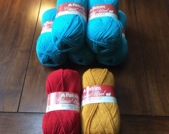 Patons Classic Wool Worsted 7 skeins!