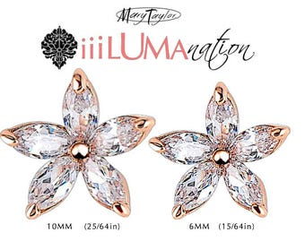 Vintage CZ Diamond Marquise Cut FLOWER PEDAL Earrings illuminate and shimmer with your every move .