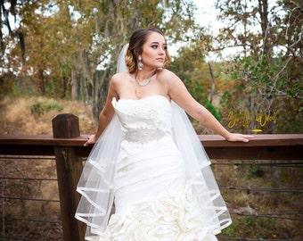 Ribbon Edge Wedding Veil