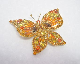 Big Bold Butterfly Brooch Perfect For Spring!