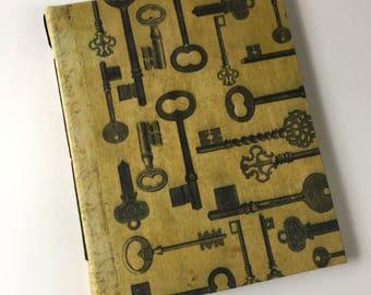 Skeleton Key Grunge Journal, Men's Journal, Writing Journal, Unique Journal, Wedding Journal, Guest Book, Book of Shadows, Travel Journal