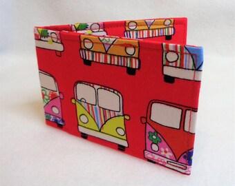 Red VW Kombi Design Oyster Card Holder - Credit Card Holder - Business Card Holder - Gift Card Purse - Travel Accessories - Kombi Gift