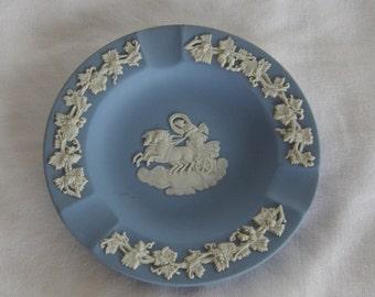 Pair Wedgwood Blue Jasperware Figural Ashtray