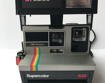 Vintage Polaroid Supercolor 635 Instant Camera