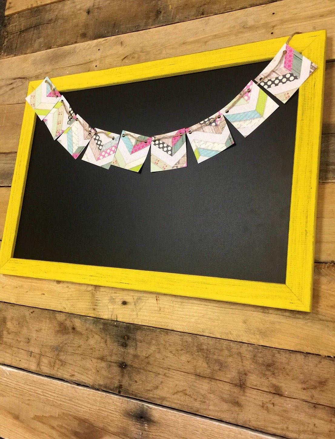 Yellow Chalkboard-Home Office Decor-Office Chalkboard-Office