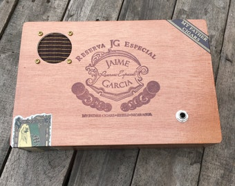 Cigar Box Bluetooth Speaker, Guitar Amplifier, Wired Speaker, Handmade Portable Amp - Jaime Garcia