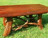 24x24 square rustic coffee table for Judy