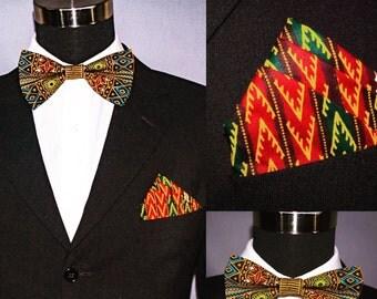 Dashiki.....Bow tie/tie.....Ankara tie/Bow tie.....African tie/Bow tie.....With pocket square