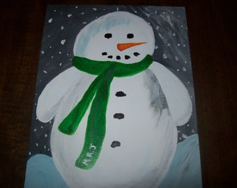 Original Snowman Painting