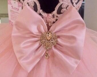 Peach Pageant Dress | Peach Baby Dress | Peach Infant Dress | Peach Dress | Peach Bow Dress | Peach Sequins Dress | Pageant Dress | Tulle