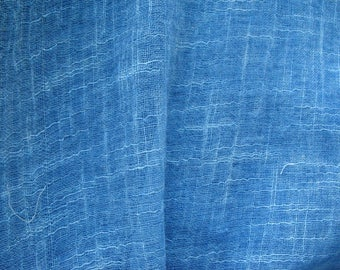 Light BLue Cotton Slub Gauze Fabric Sold by Yard