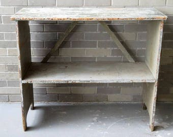 Primitive Two Tier Bucket Bench