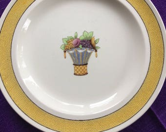 Two Wedgewood Plates with May Baskets from the 1950s