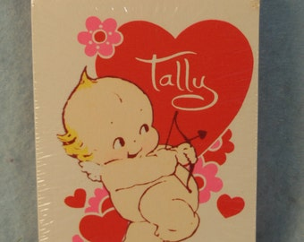Vintage Kewpie-Valentine-Bridge Tallies-1973-Never Opened-American Greetings--