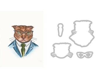 Sizzix Framelits Die Tim Holtz  Hipster Cat